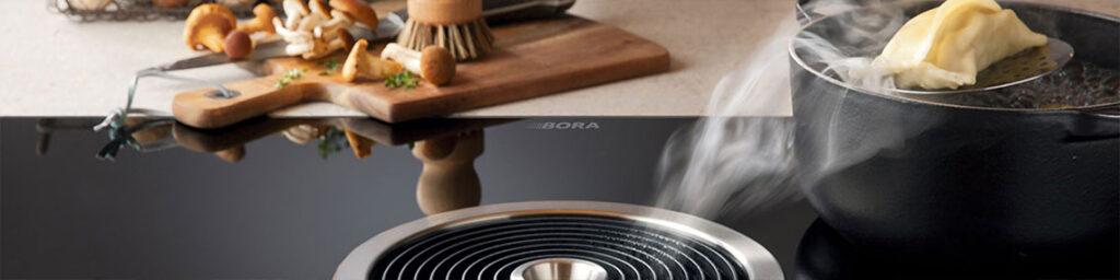 Kookplaat met werkbladafzuiging
