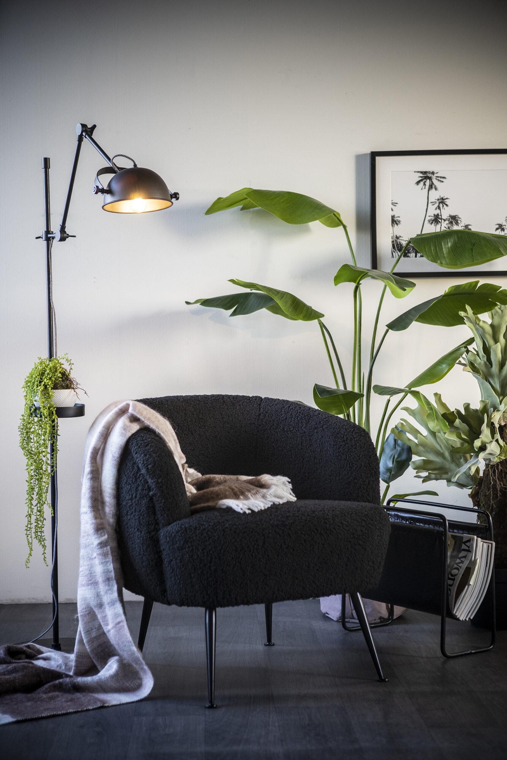 babe fauteuil zwart voor een warm interieur