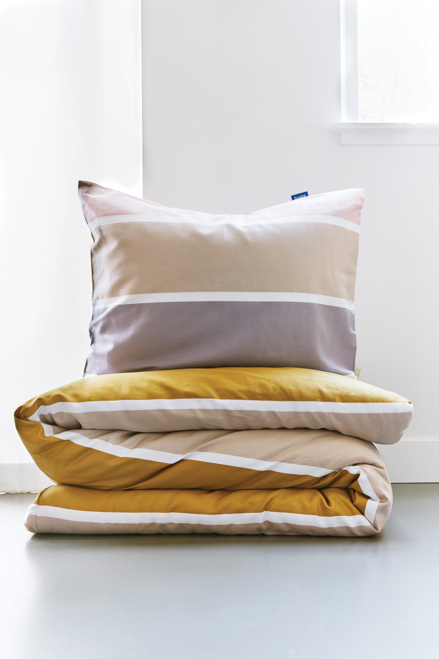 Textiel geel en bruin