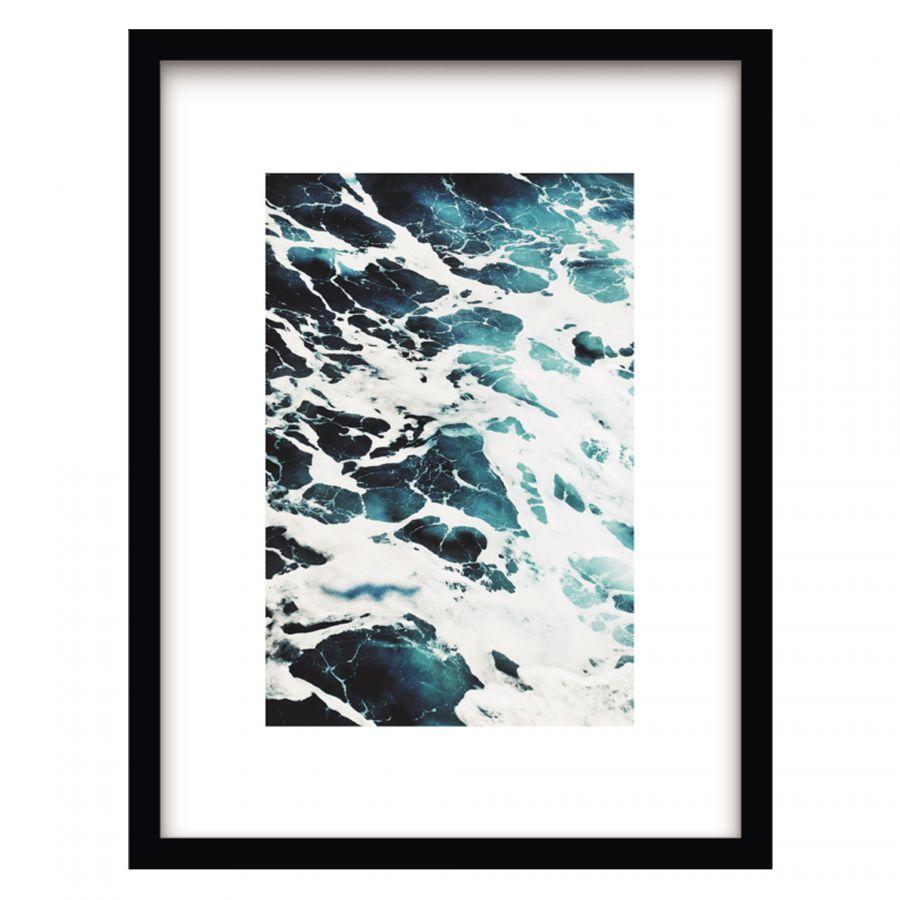 Blue wave wanddecoratie