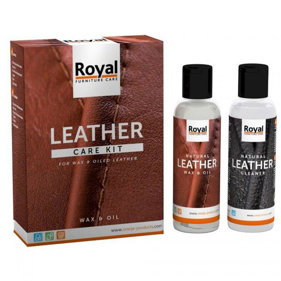 Leather wax & oil set 2x150 ml