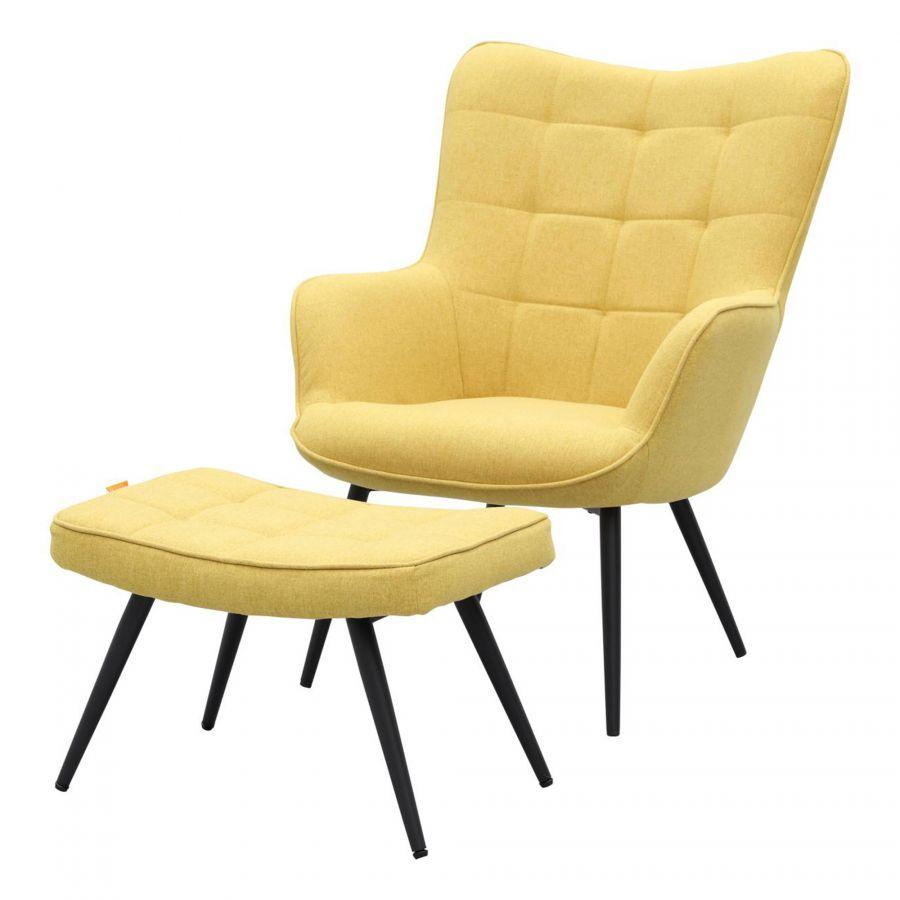 Otta fauteuil incl. hocker