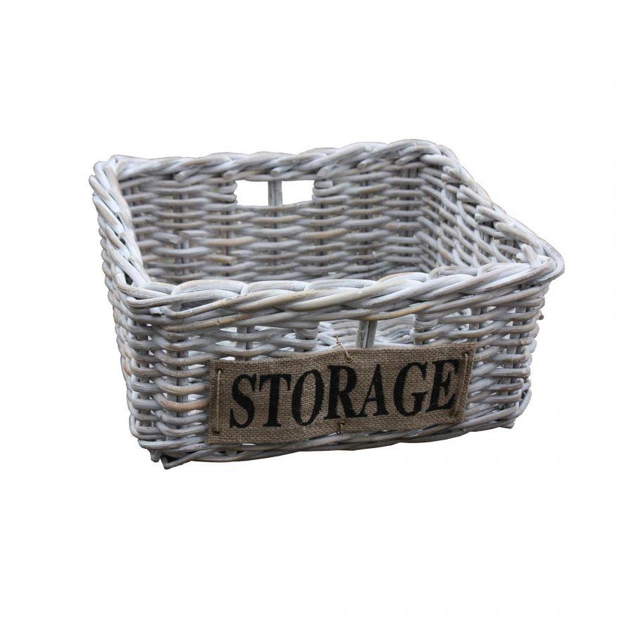 Mand Storage met jute .
