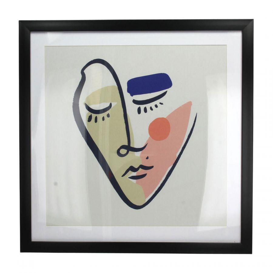 Colorfull face schilderij