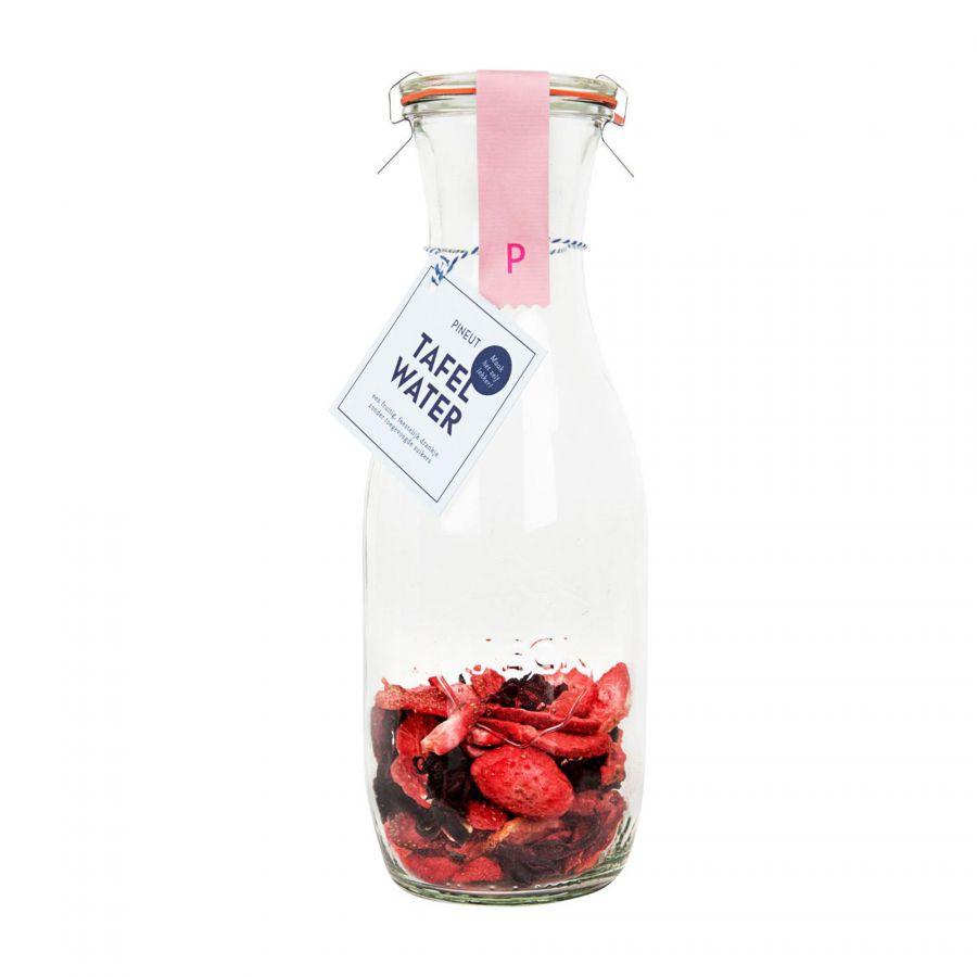 DIY tafelwater aardbei hibiscus