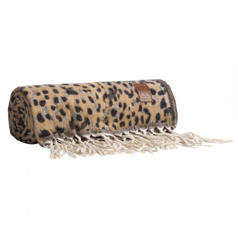 Leopard plaid COCO maison