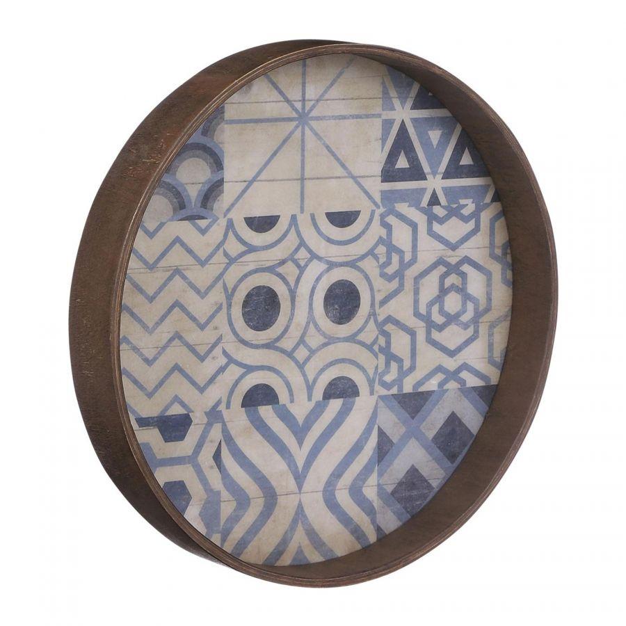 Wanddecoratie Moza blauw 30cm Multi