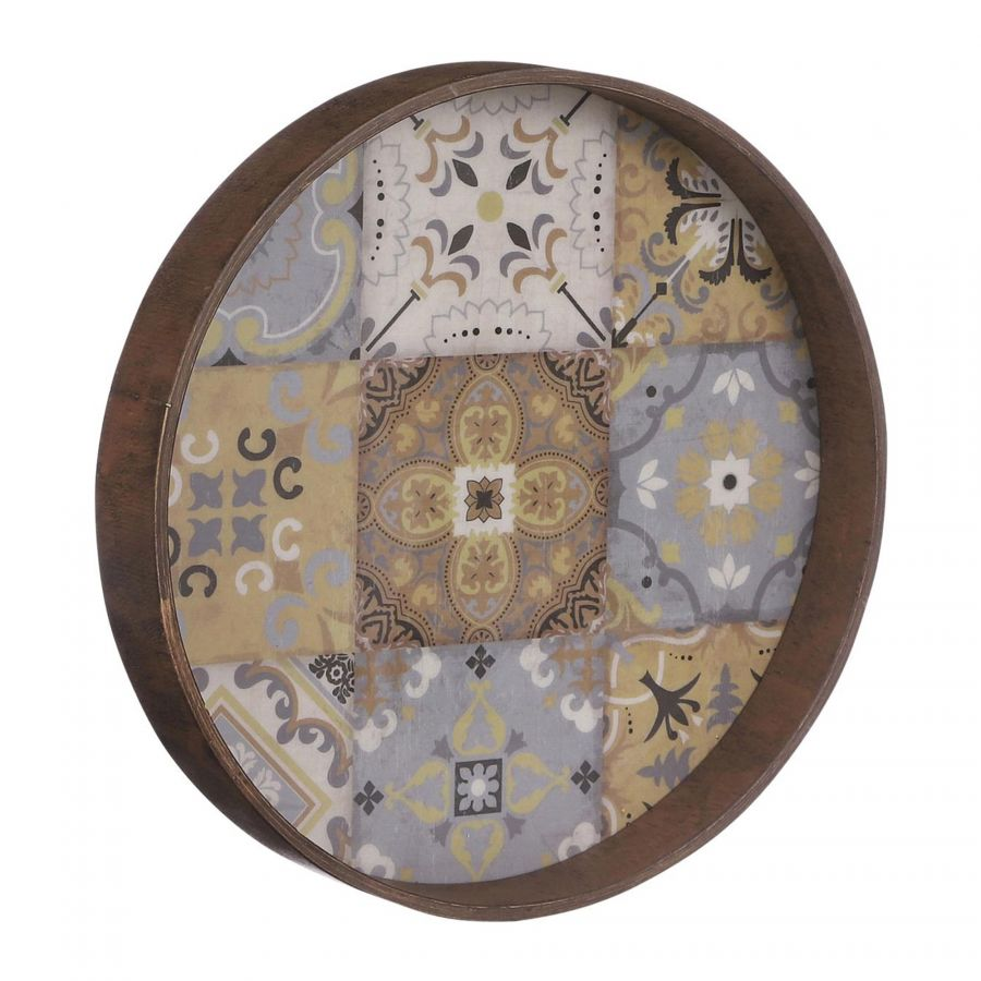 Wanddecoratie Moza bruin 30cm Multi