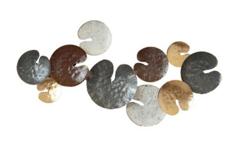 Wanddecoratie metalen gekleurde bladeren