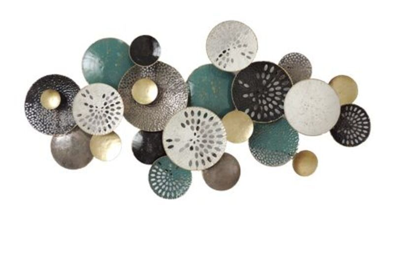 Wanddecoratie metalen cirkels