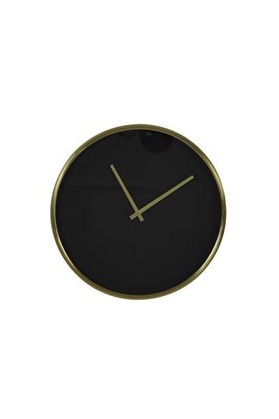 Klok Seponi Zwart Goud (Ø) 41 cm