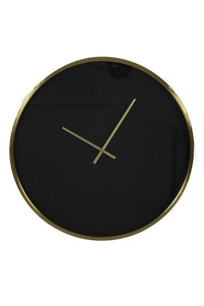 Klok Seponi Zwart Goud (Ø) 61 cm