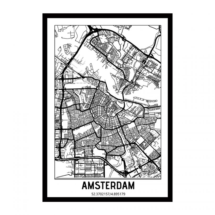 Amsterdam, Netherlands city map